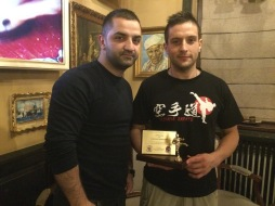 MIHAI SENSEI GIVIN AN IMPORTANT RECOGNITION TO SENSEI DIEGO FOR THE SUPPORT AND TEACHINGS DURING THE ACTIVITY