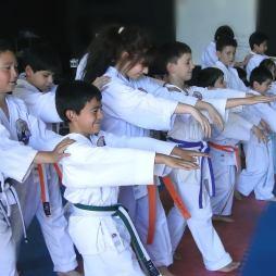 George Sensei leading a kids session - Los Angeles Chile 2019