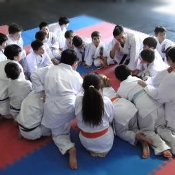 DIEGO SENSEI leading a Children Karate Class - Los Angeles Chile 2019