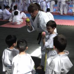 Magaly Inzunza Sensei leading a kids session - Los Angeles Chile 2019