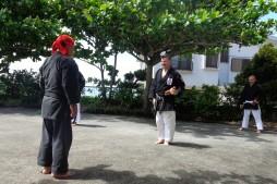 TOKUMURA SENSEI & Osvaldo Sensei - Hamahiga no Tonfa, Okinawa, 2017