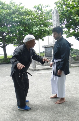 TOKUMURA SENSEI & Joaquin Alvares, back in Okinawa 2017