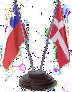 CHILE DENMARK FLAGS SF