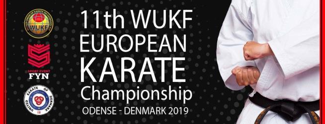 11th WUKF EUROPEAN KARATE CHAMPIONSHIP - Odense, Denmark 2019