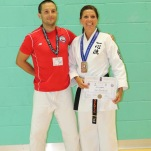 NELLIE BRADSTED - WUIKA Denmark, Kata karate Female 30 - 44 1st & 2nd Dan and Diego Rodriguez Sensei from Chile.